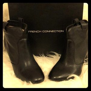 French Connection Black Livvy Booties